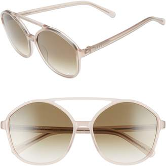 Raen Torrey 58mm Aviator Sunglasses