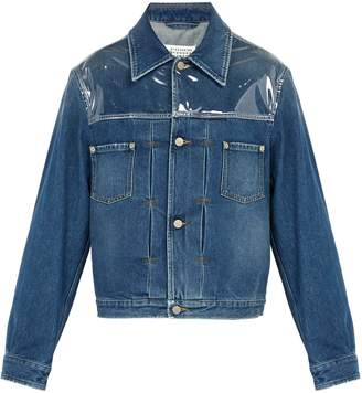 Maison Margiela PVC-panelled denim jacket