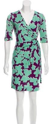 Diane von Furstenberg Plunging Neck Mini Dress