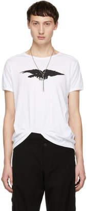 Ann Demeulemeester White Fine Raven T-Shirt