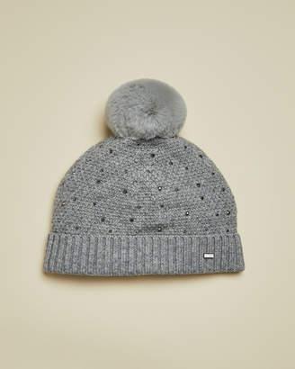 Ted Baker YSELLE Studded bobble hat