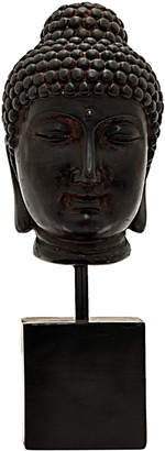 Three Hands Corp Black Buddha Head Home Accent