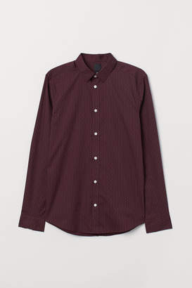H&M Slim Fit Easy-iron Shirt - Red