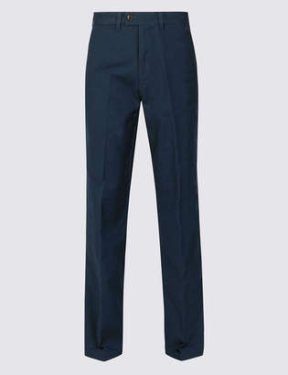 Blue HarbourMarks and Spencer Regular Fit Chinos with Stretch