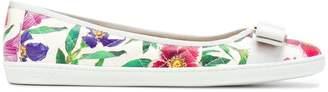 Salvatore Ferragamo printed Vara ballerina shoes