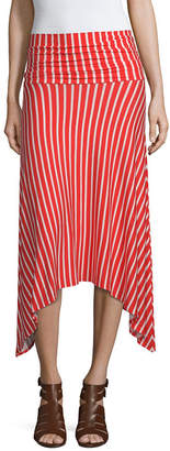 MIXIT Mixit Womens Mid Rise High Low Handkerchief Skirt
