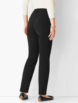 Talbots High-Rise Straight-Leg Jean - Never Fade Black