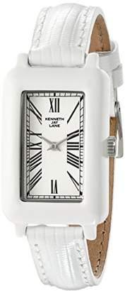 Kenneth Jay Lane Women's KJLANE-0910S-BSET Moderne Rectangular Watch with Interchangeable Bands