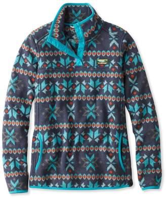 L.L. Bean Misses' L.L.Bean Sweater Fleece Pullover, Fair Isle Print