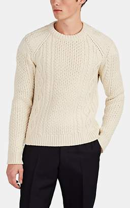 Calvin Klein Men's Cable-Knit Wool-Blend Sweater - White