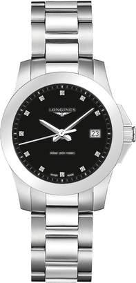 Longines Conquest - L3.377.4.57.6 - Diamond Dial Date Quartz Women's