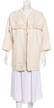 Isabel Marant Fringe-Trimmed Short Coat