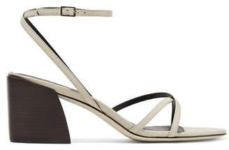 Tibi Leather Sandals - Cream