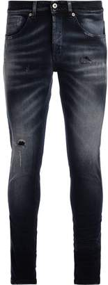 Dondup George Dark Blue Washed Jeans With Breakings
