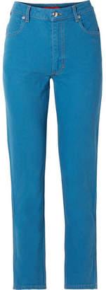 Eckhaus Latta El High-rise Straight-leg Jeans - Blue