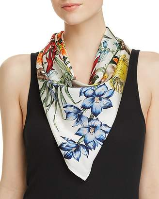 Echo Blooms of Oceania Silk Square Scarf