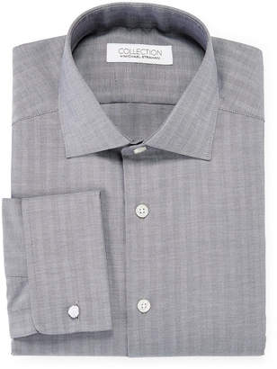 COLLECTION Collection by Michael Strahan Cotton Stretch French Cuff Dress Shirt - Big & Tall