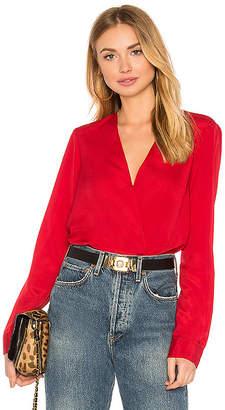 BCBGeneration Shirt Cuff Surplice Top