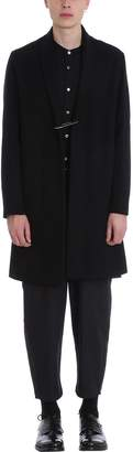 Attachment Black Wool Coat