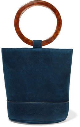 Simon Miller Bonsai 20 Nubuck Bucket Bag - Navy