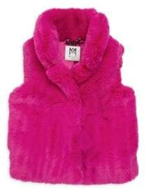 Milly Minis Little Girl's& Girl's Faux Fur Vest