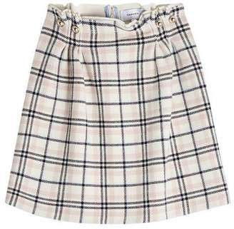 Carven Plaid Skirt with Wool