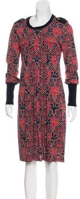 Tory Burch Silk-Blend Printed Dress