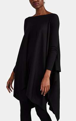Rick Owens Women's Virgin Wool Poncho Sweater - Black
