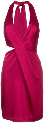 Halston halterneck short dress