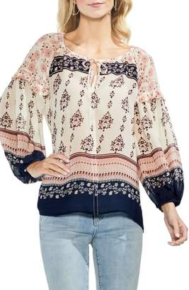 Vince Camuto Wildflower Print Peasant Blouse