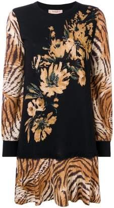 Twin-Set tiger print dress