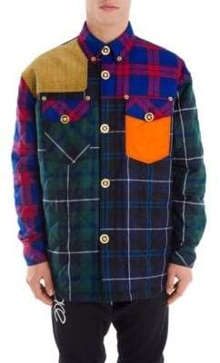 Versace Plaid Panel Jacket