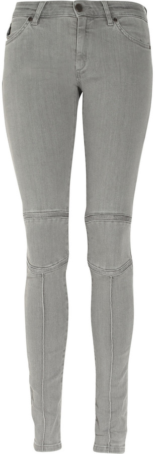 Superfine Ride motocross-style low-rise skinny jeans
