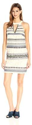 Nicole Miller Women's Tribal Trims Cotton Eyelet Halter Dress