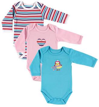 Baby Vision Hudson Baby Long Sleeve Bodysuits, 3-Pack, Birdie, 0-12 Months