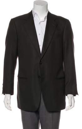 Armani Collezioni Cashmere Notch-Lapel Blazer brown Cashmere Notch-Lapel Blazer