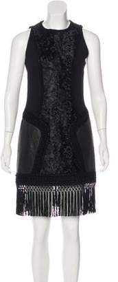 Andrew Gn Fringe-Trimmed Sheath Dress
