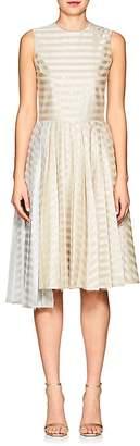 Jourden Women's Fil Coupé Striped A-Line Dress