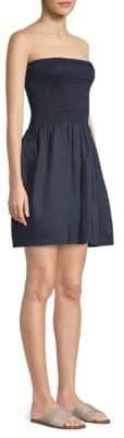 ATM Anthony Thomas Melillo Smocked Strapless Flare Dress