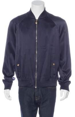 Versace Embellished Silk Souvenir Jacket