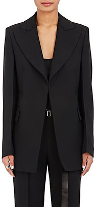 Calvin Klein Women's Wool-Silk Crepe Fitted Jacket $2,495 thestylecure.com