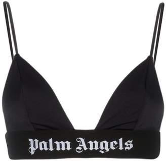 Palm Angels Logo Printed Elasticated Bra