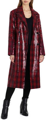 Badgley Mischka Wool-Blend Coat
