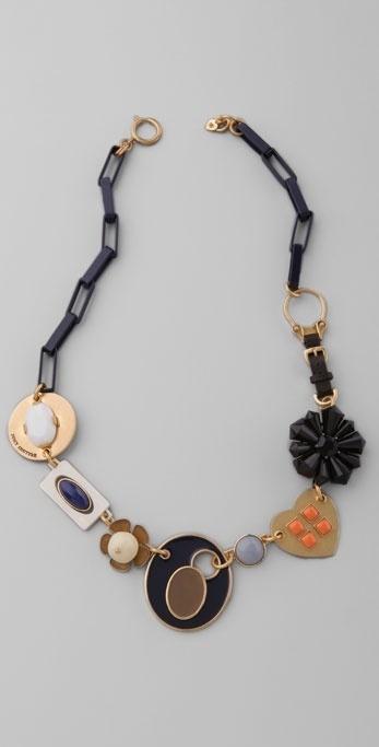 Juicy Couture Enamel Link Necklace