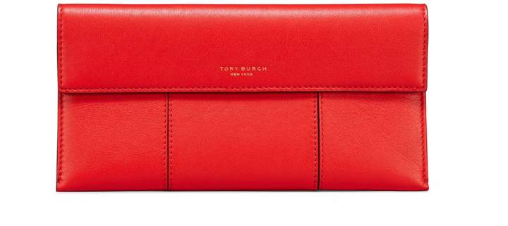 Tory Burch BLOCK-T TRAVEL TICKET SLEEVE - EXOTIC RED - STYLE