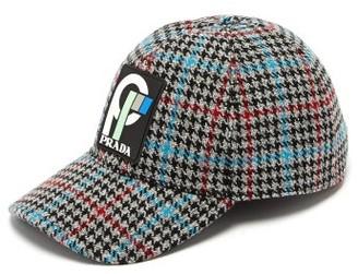 Prada - Wool Tweed Logo Baseball Cap - Womens - Multi