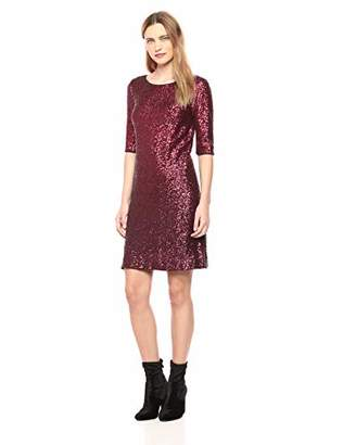 Betsey Johnson Women's Long Sleeve Sequin Dress