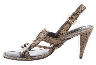 Louis Vuitton Patent Leather Slingback Sandals