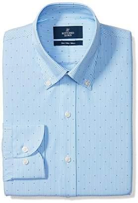 Buttoned Down Men's Slim Fit Spread Collar Pattern