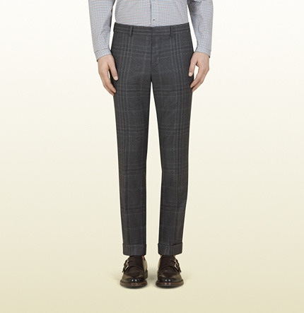 Gucci Grey Check Flannel Heritage Trouser